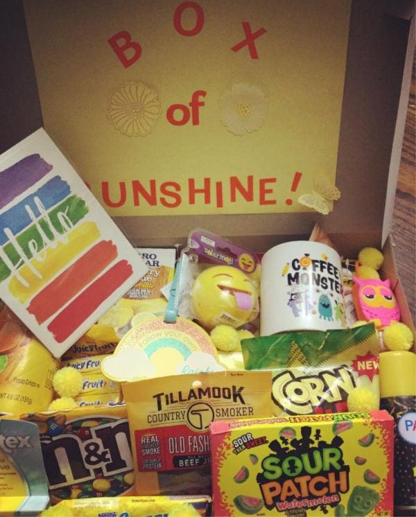sunshine box ideas for a good friend