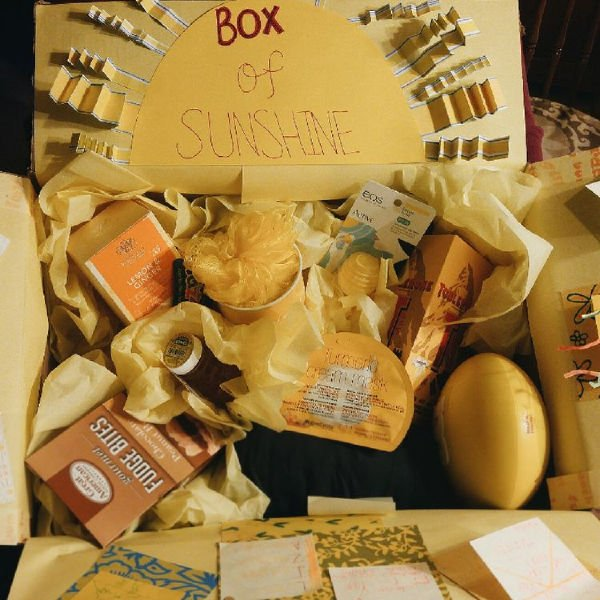 fun little gift box stuffed with happy items