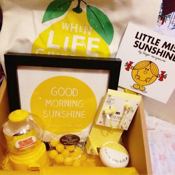 little miss sunshine care package idea