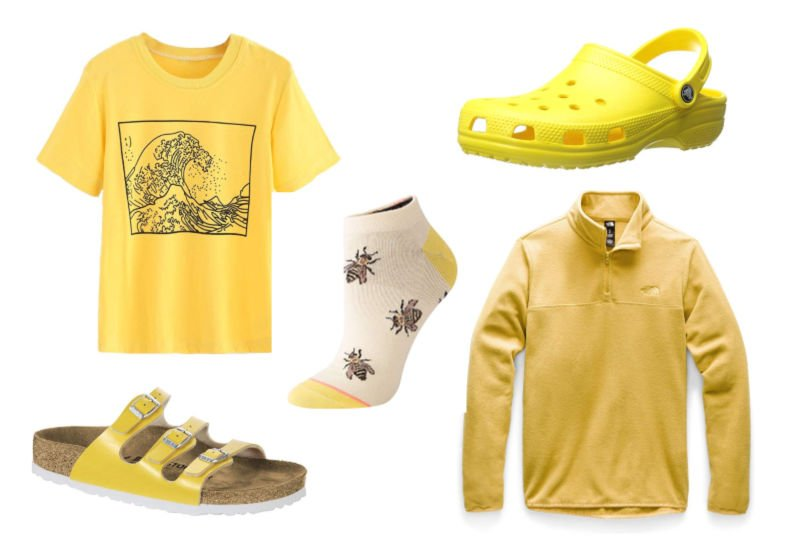 yellow clothing and shoe gift ideas for her