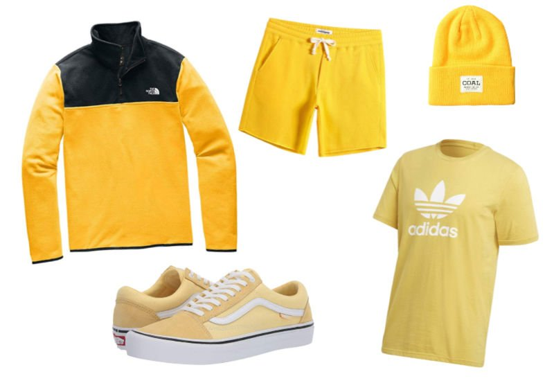 yellow gifts for him, clothing and shoes ideas