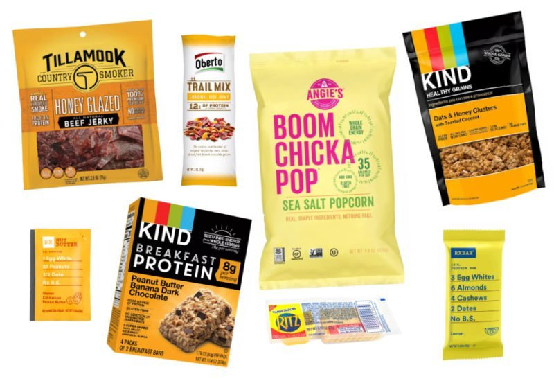 yellow packaged snack ideas for a box of sunshine