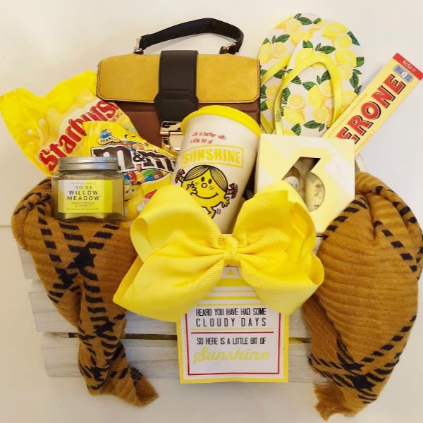 yellow themed gift box