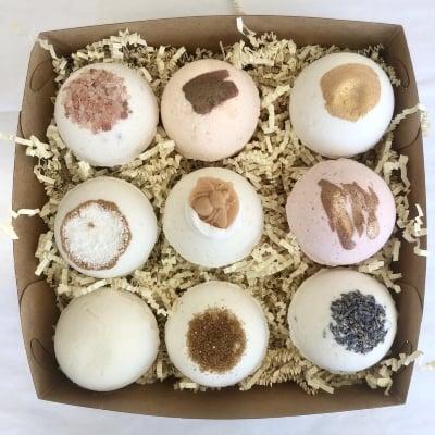 Variety Bath Bomb Gift Set , organic bath bombs