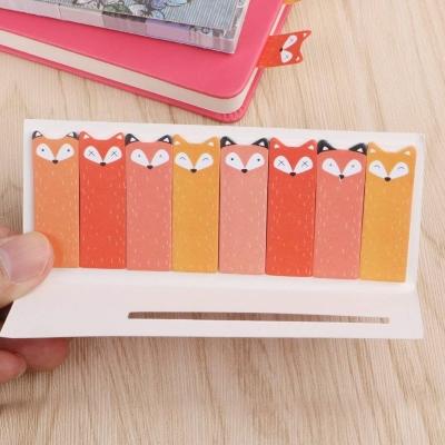 cute cartoon animal sticky notes