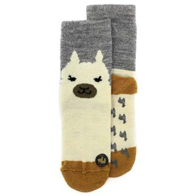 cute alpaca wool socks with alpaca pattern gift idea for college kids