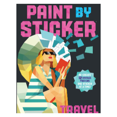 paint by sticker book: travel - fun stocking stuffer idea for college student