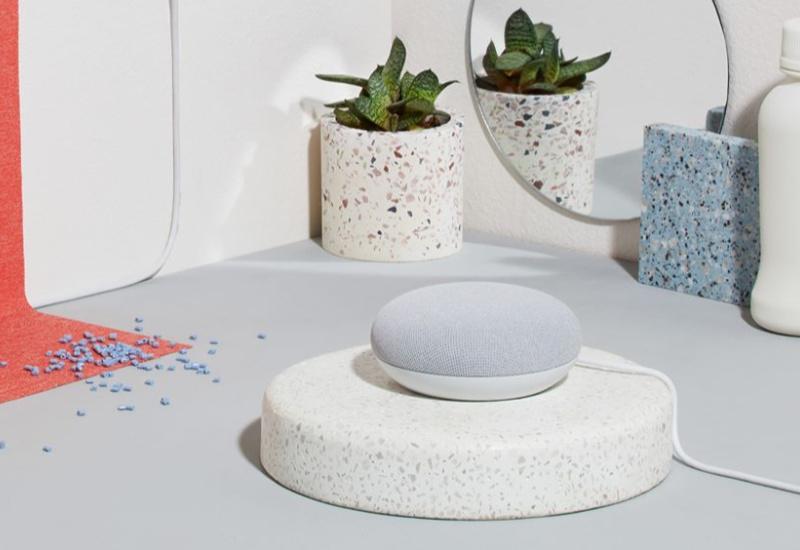 white google home mini