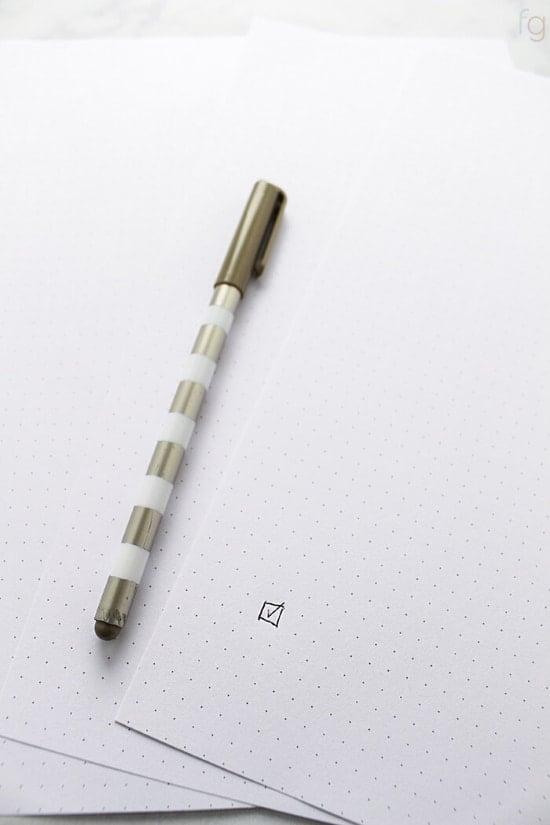 bullet journal dot grid printable