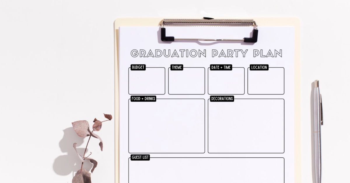 Free Printable Graduation Party Planner (Get Organized Fast!) 1