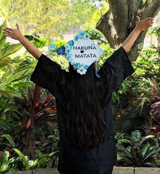 hakuna matata graduation cap designed by a mom