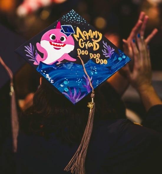 funny graduation cap idea for moms example