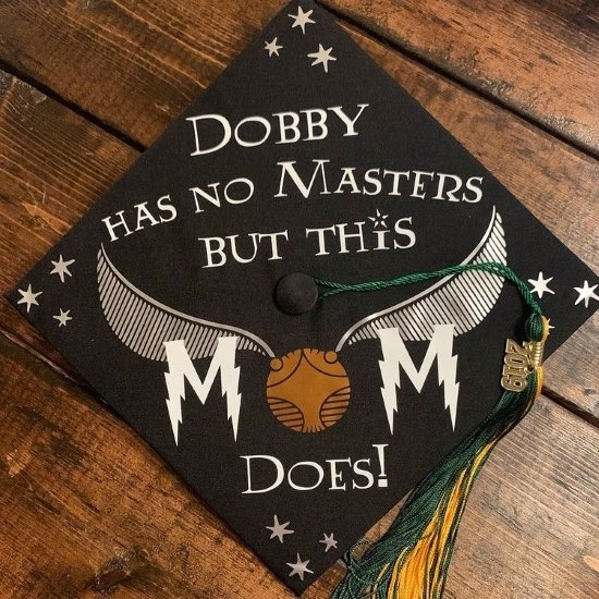 """""""dobby has no masters but this mom does"""" cap decoration"""