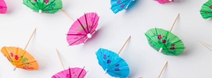 scattered summer drink umbrellas