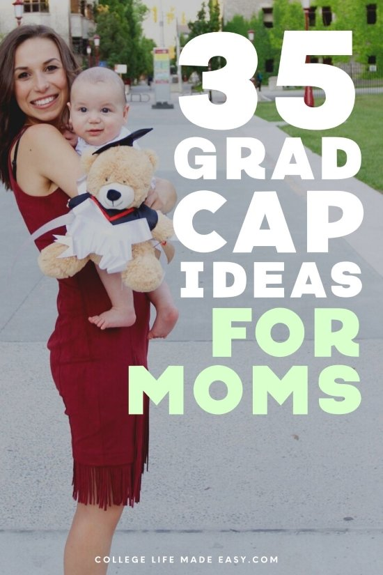 35 grad cap ideas for moms Pinterest