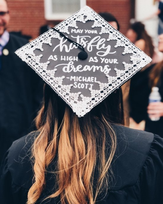 """""""may your hats fly as high as your dreams"""" - cap decoration idea"""