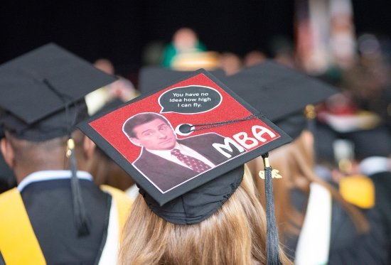 MBA graduate cap decoration - you have no idea how high i can fly