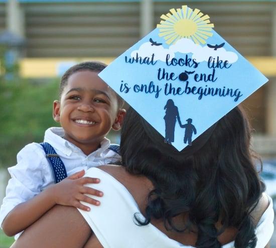 single mom graduation cap with quote