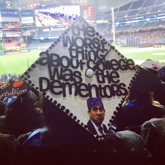 the worst thing was the dementors quote from the office on graduation cap