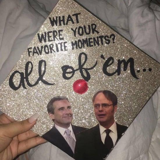michael scott dwight decorated graduation hat idea