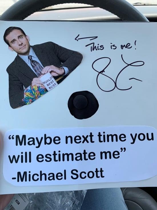"""""""maybe next time you will estimate me"""" - Michael Scott grad cap decoration idea"""