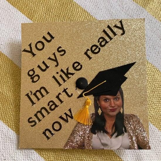 kelly kapoor graduation cap idea