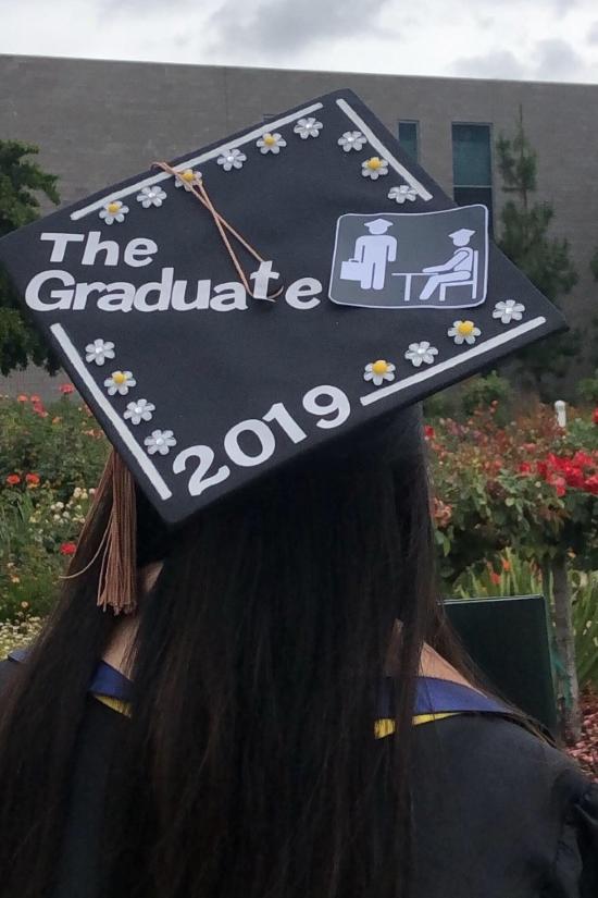 the office inspired graduation cap, the graduate