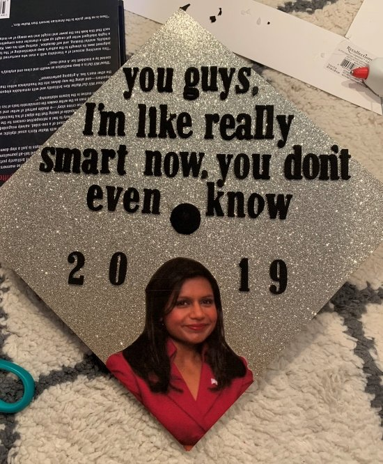 the office grad cap with kelly quote