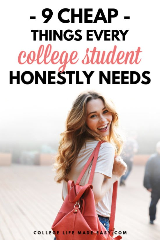 cheap things every college student needs - Pinterest