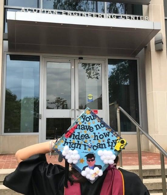 michael scott quote decorated graduation cap idea