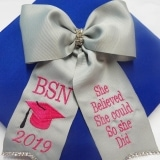 graduation cap bow decorated for BSN nurse