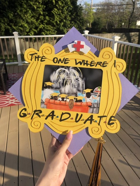 The one where I graduate cap decoration with nurse hat
