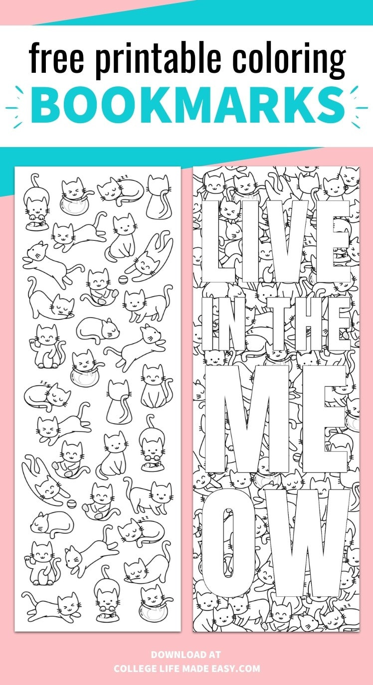 free printable coloring bookmarks - save it to Pinterest for later
