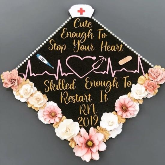 rn graduation cap funny saying