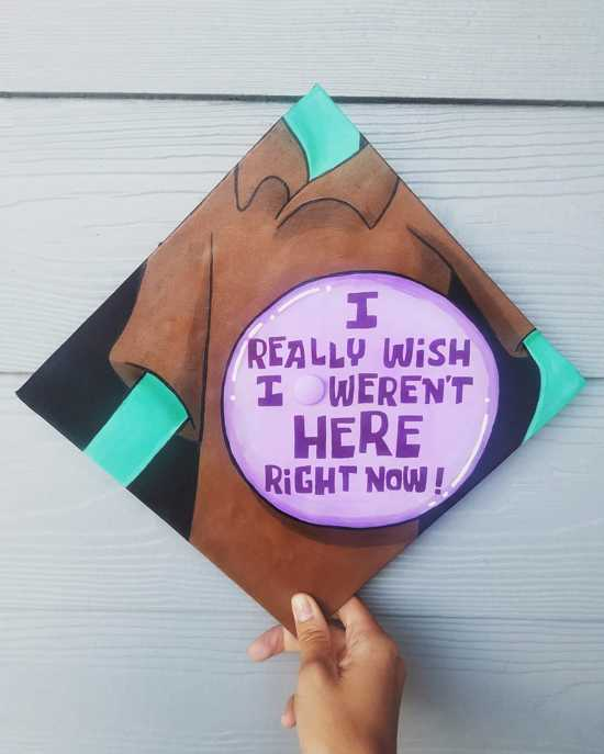 I really wish I weren't here right now squidward graduation cap quote