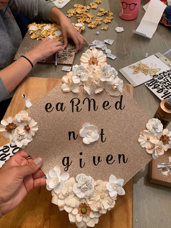 earned not given nurse cap topper decoration