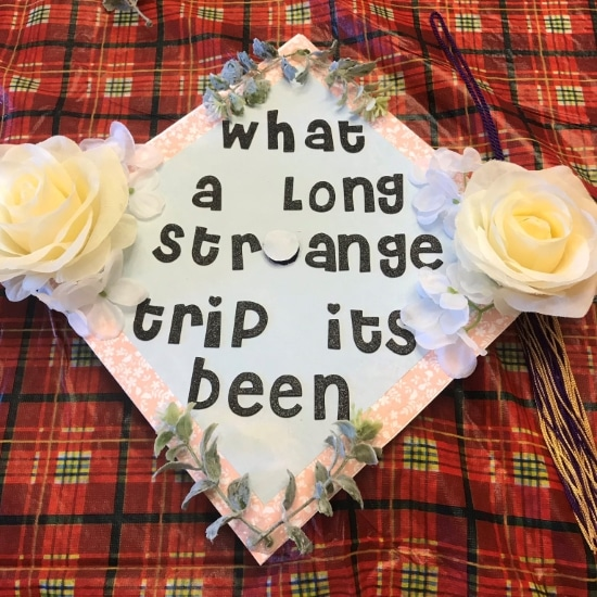 what a long strange trip it's been simple grad cap design