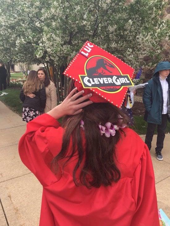 clever girl college grad cap