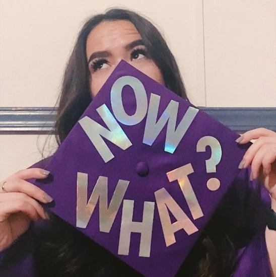 now what? graduation cap decoration