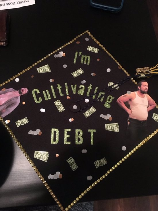 example of easy grad cap decoration