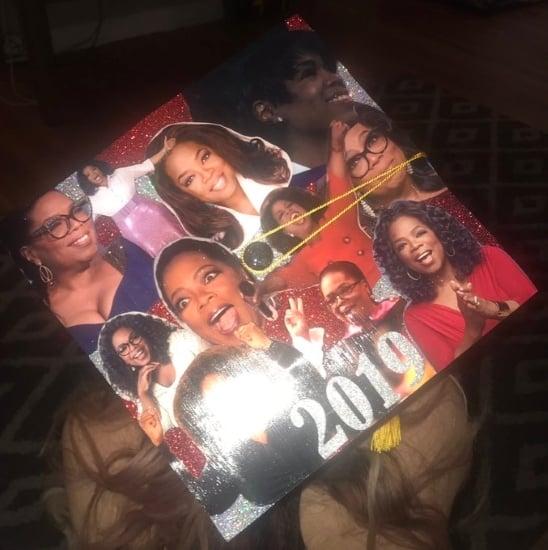 oprah decorated graduation cap