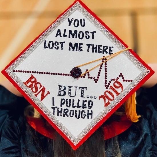 nurse grad cap with funny saying