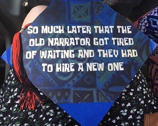 graduation cap with spongebob squarepants tv show reference