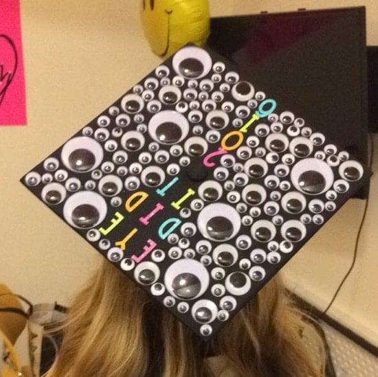 eye did it easy graduation cap decoration idea