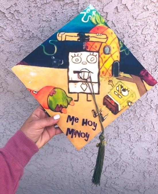 spongebob me hoy minoy reference painted graduation cap
