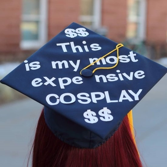 easy graduation cap decoration idea example