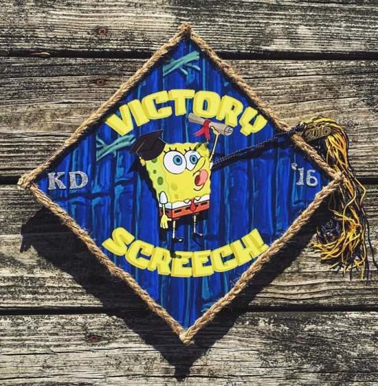 victory screech grad cap design