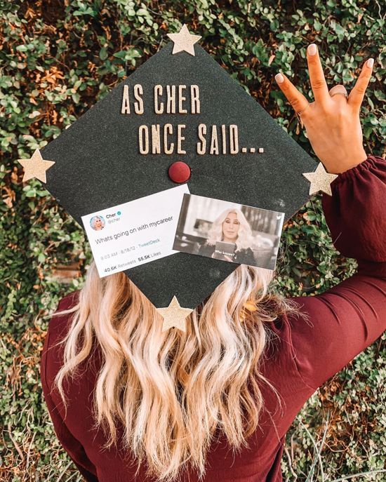 As Cher once said...graduation cap topper decoration