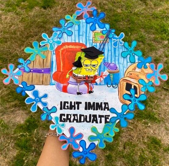 ight imma graduate grad cap idea