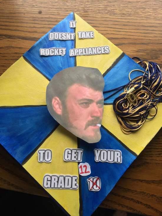 funny trailer park boys decorated graduation cap